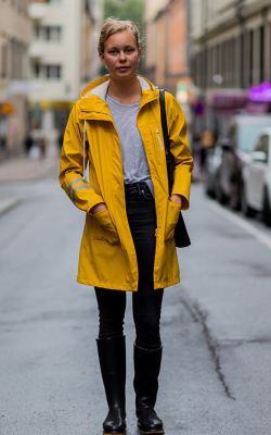Желтый женский плащ дождевик фото 11