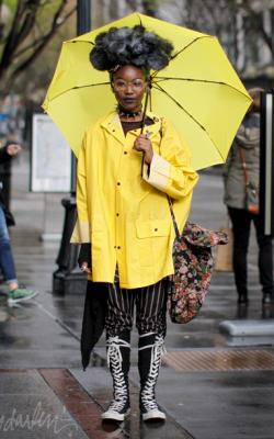 Желтый женский плащ дождевик фото 12