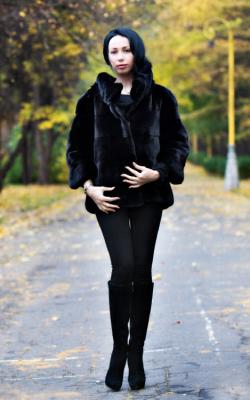 Женская норковая куртка фото 11