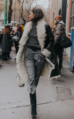 дубленка зима 2019 фото 15