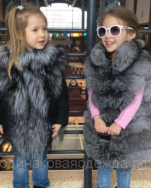 Жилетка для девочки из чернобурки фото 2