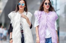 Женская меховая жилетка 2019 — выбираем компаньонов, создаем стильный лук!