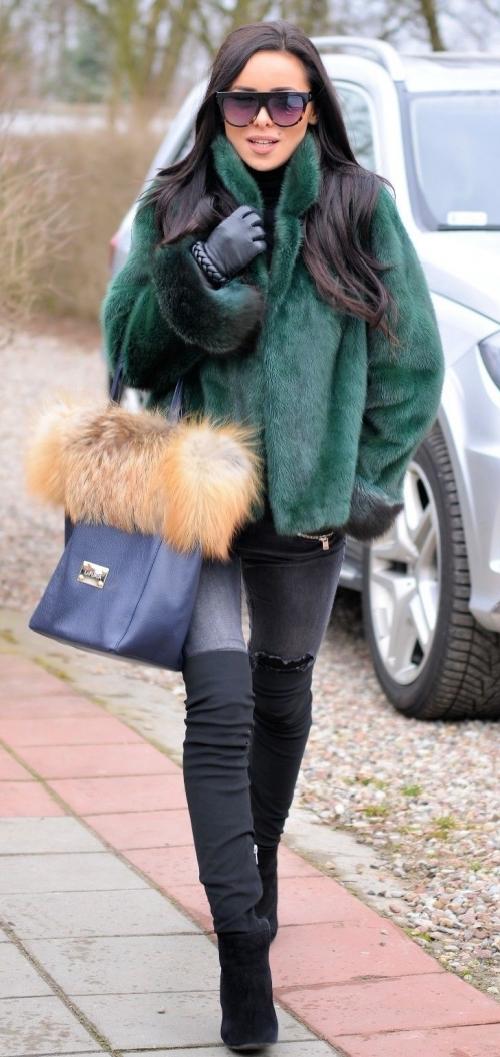 Норковая шуба модель зима 2018-2019 фото