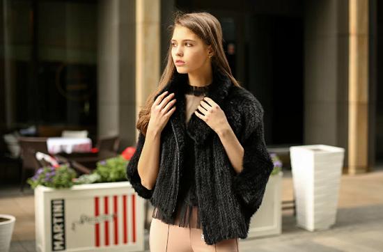 Куртки из вязаной норки фото