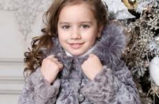 Детские шубы из норки, кролика и мутона: фото моделей для девочек