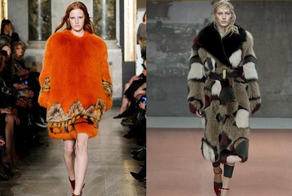 модные меховые пальто из длинного ворса
