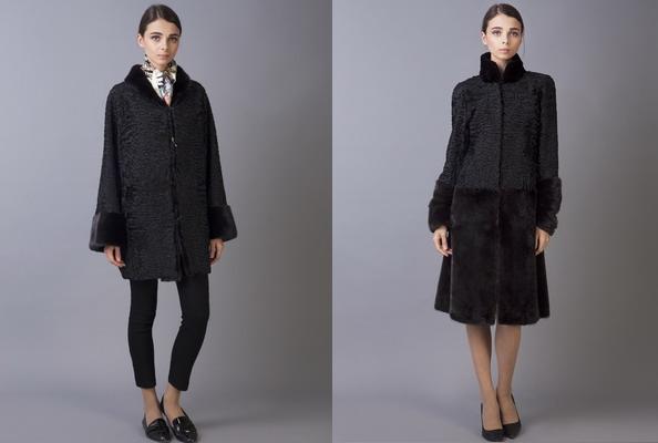 Меховаое пальто из каракуля