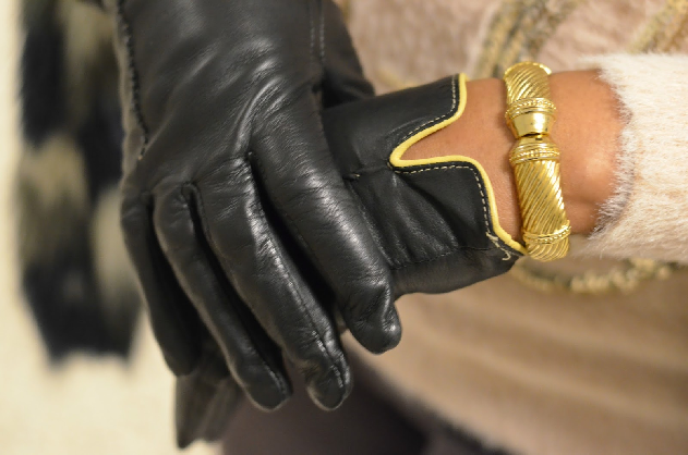 Перчатки к шубе