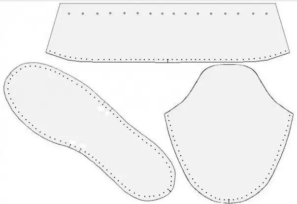 домашние тапочки из меха как пошить детали