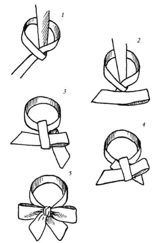 Как завязать бантом пояс