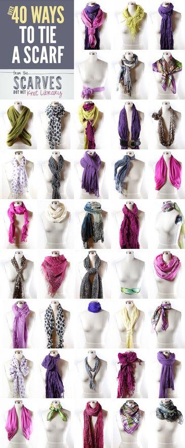 40 способов завязать шарф