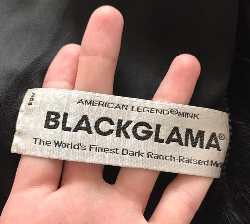 ярлк с серийным номером Blackglama