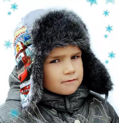 Детская меховая шапка - модели 2018-2019 для девочек и мальчиков 1f82b947d870c