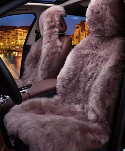 меховые чехлы на сиденья автомобиля