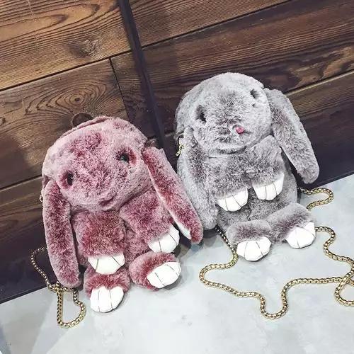 Сумка кролик на цепочке