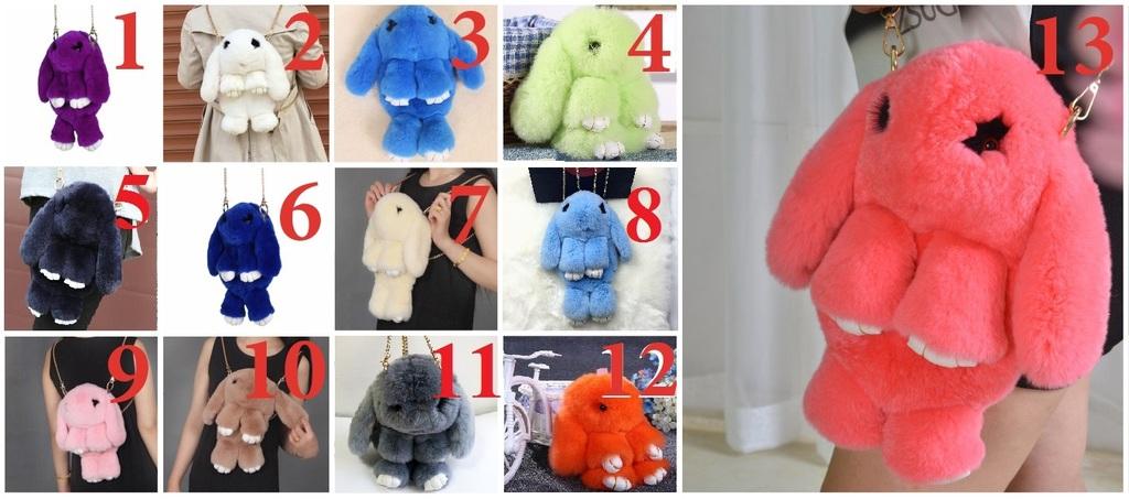 Цветовые варианты рюкзаков кроликов