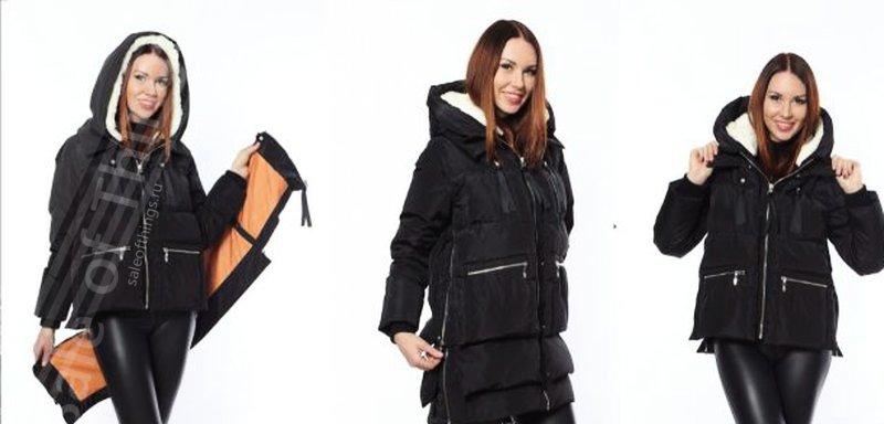 Куртка пуховик трансформер женская герлен маленькое черное платье