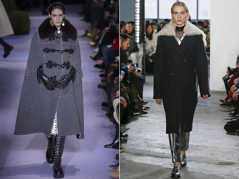 Двубортное шерстяное пальто