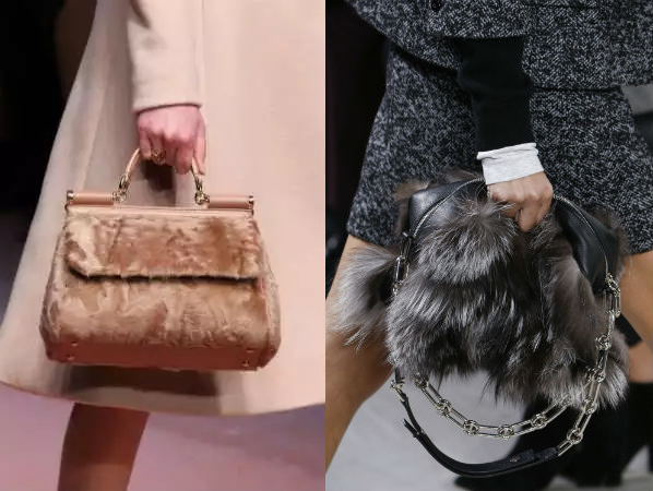 сумки с мехом 2018