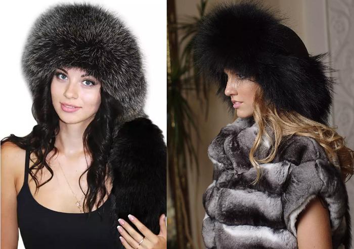 Женская шапка малахай