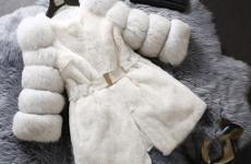 Белая шуба из кролика: модные фасоны, стильные луки, фото