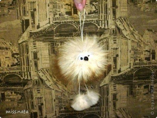 Как сделать кролика брелок из меха фото 450