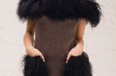 Модели платьев с декором из меха