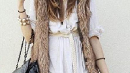 Шуба без рукавов: модные модели, стильные образы
