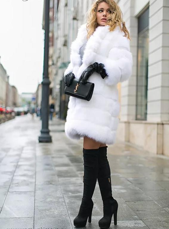 Белая шуба - с чем носить