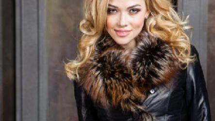 Женские кожаные куртки с мехом на зиму 2021-2022