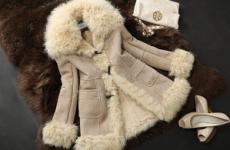 Женский тулуп из овчины: модные модели с воротником и без