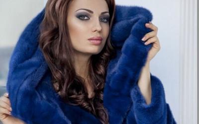 Норковая синяя шуба: что говорят стилисты?