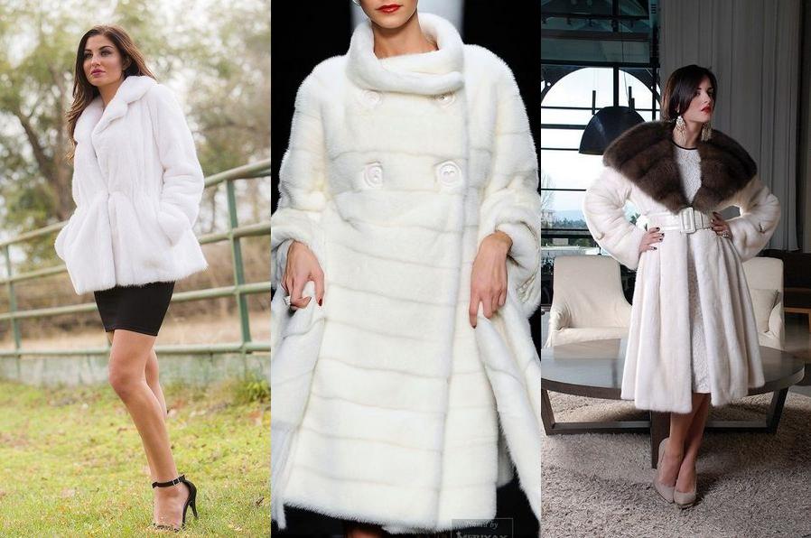С чем носить белую шубу в 2019 фото