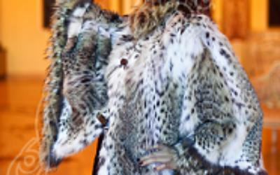 Меховое манто: модные луки