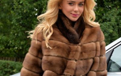 Элегантная норковая шуба поперечка: модные фасоны и цвета