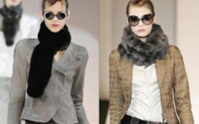 Меховой шарф 2018-2019: самый теплый аксессуар для зимы