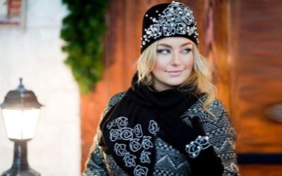 Женский комплект шапка, перчатки, шарф — модели 2018-2019