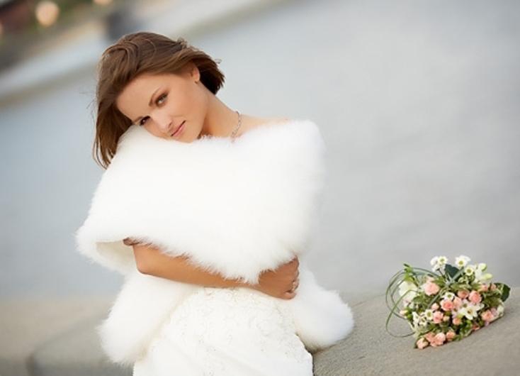 Свадебная шубка из натурального меха