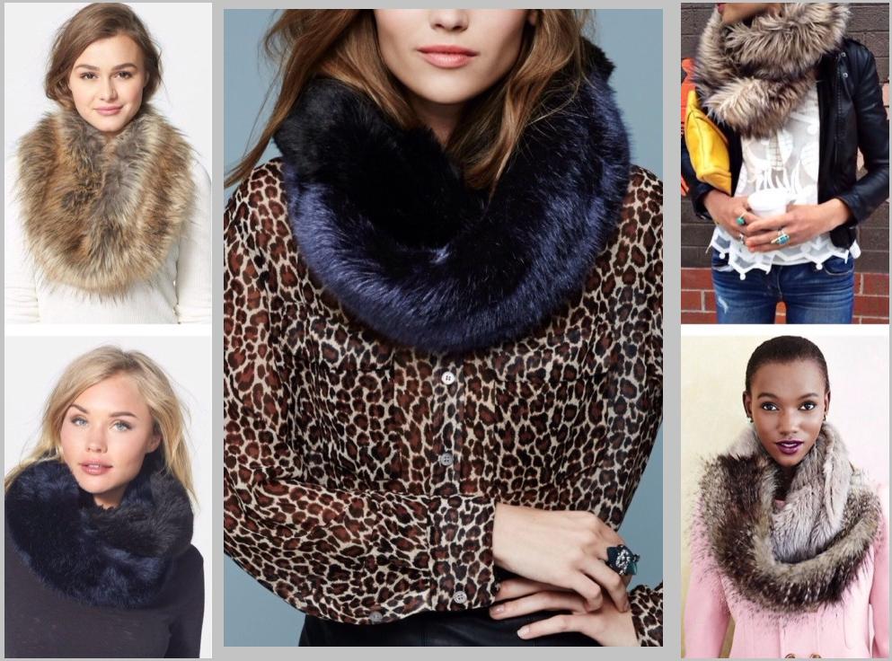 Способы ношения мехового шарфа