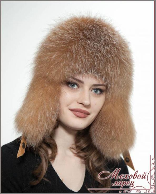 Шапка-ушанка женская меховой ларец
