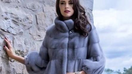 Норковые шубы в цвете сапфир: фото модных моделей 2021-2022