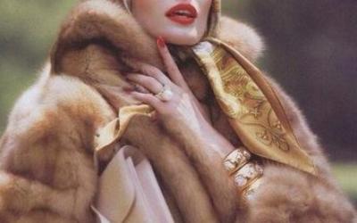Норковые шубы цвета «Паломино»