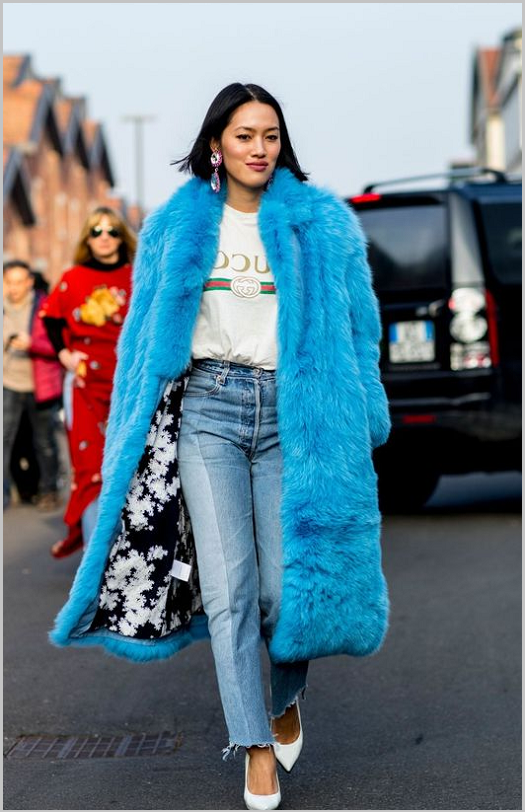 Fur coat choose the size