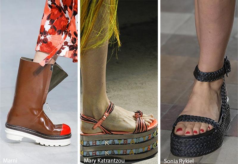 Модные босоножки весна 2018 на платформе