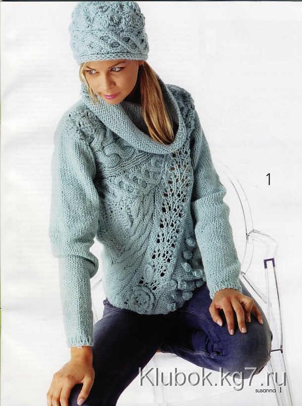 58c98ed954d ... вязание спицами для женщин модные модели 2018 года с описанием ...
