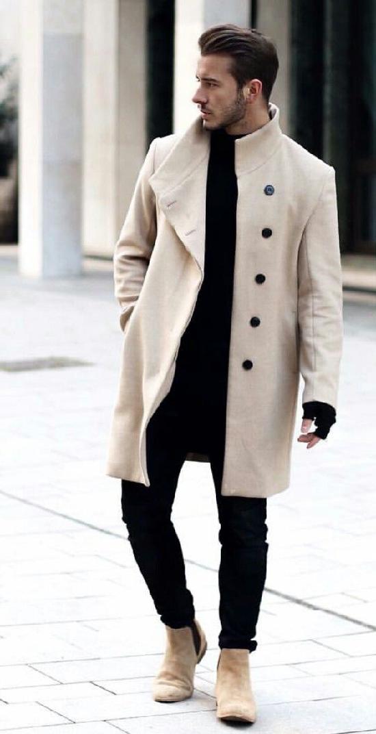С чем носить мужской длинный кардиган