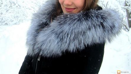 Женская дубленка с чернобуркой