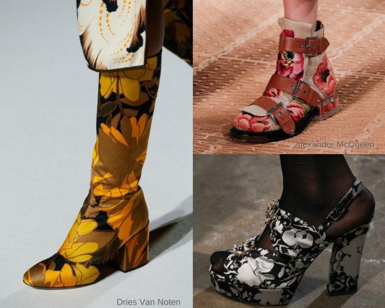 Туфли с цветами 2018