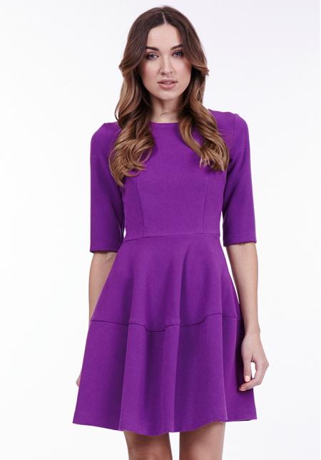 Модное фиолетовое платье