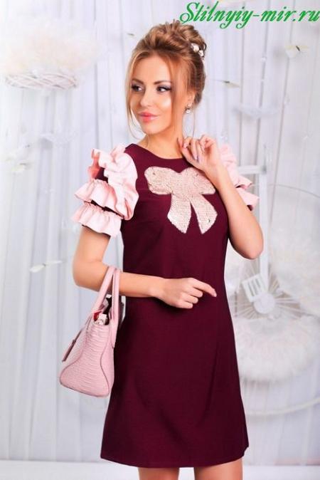 Модное платье с бантом 2018